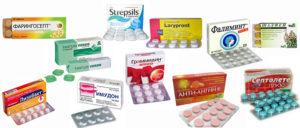 таблетки от першения в горле